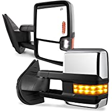 YITAMOTOR Chevy Towing Mirrors, GMC Power Heated LED Turn Arrow Signal Lights Reverse Lights Tow Mirrors, for 2008-2013 Chevy Silverado GMC Sierra All Models, 2007 Silverado Sierra New Body Style
