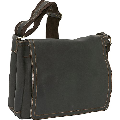 - David King & Co. North South Laptop Messenger, Cafe, One Size
