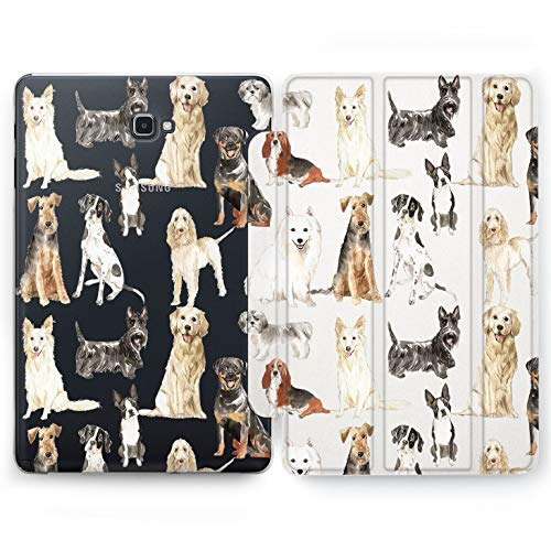 (Wonder Wild Big Dogs Samsung Galaxy Tab S4 S2 S3 A E Smart Stand Case 2015 2016 2017 2018 Tablet Cover 8 9.6 9.7 10 10.1 10.5 Inch Clear Beloved Animals Mans Best Friend Different Breed Basset Scotch)