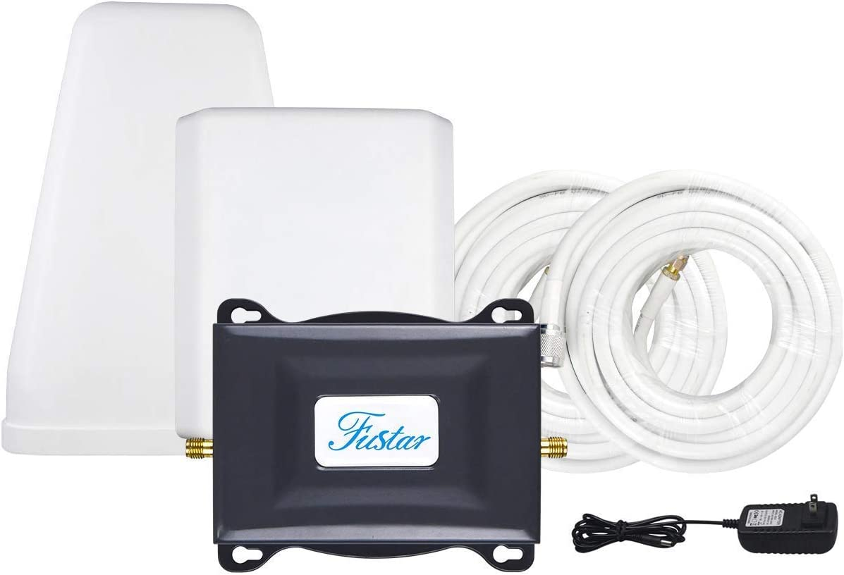 Verizon Cell Phone Signal Booster Verizon Signal Booster 4G LTE Cell Phone Booster Verizon Network Extender Cell Booster Home 4G Booster Repeater FDD Band 13 65dB Antennas LPDA+Panel 5000sqft FUSTAR