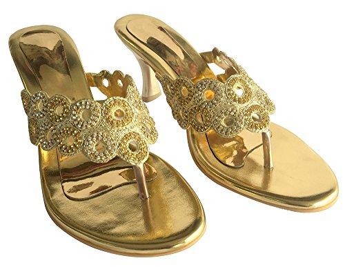 Sangles Talon Bas Chaussures N Diamante Style paillettes Parti Étape Nouveau Mesdames jutties Cheville Doré qHZ8Hv