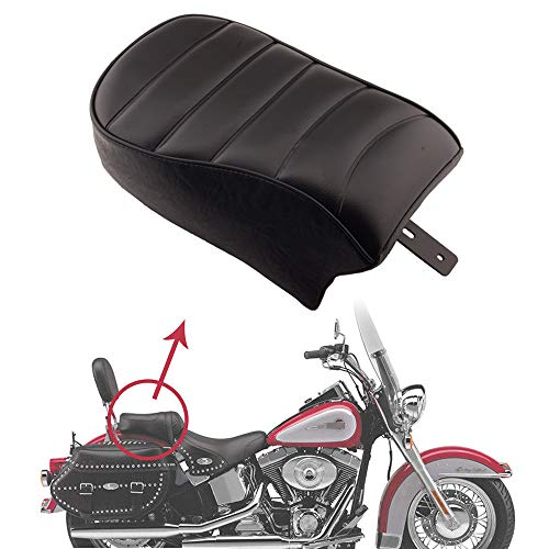Passenger Seat Part - Goldfire Black Leather Rear Passenger Pillion Seat Suit for Harley Sportster Iron 883 XL883N 2016-2019