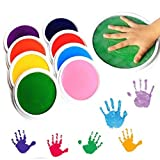 Holoras Baby Ink Pad for Baby Footprints Handprints Fingerprints Kit, 8 Colors Hand & Footprint Makers for Newborn Inkless Ink Pad Making and Children DIY Painting