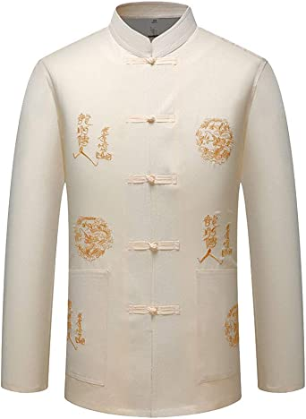 Hombres Tradicional Tai Chi Uniforme Disfraz Chino Diseño del ...