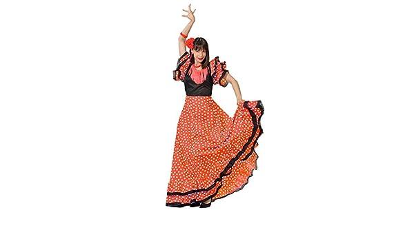 DISBACANAL Vestido de sevillana Adulto - Único, XL: Amazon ...