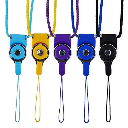 Restonc 5 Pcs Detachable Cell Phone Neck Lanyard Strap,19