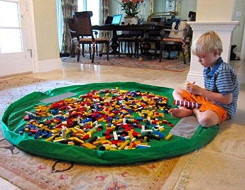 Toy Storage Bag - Portable Kids Toy Storage Bag and Play Mat Toys Organizer Bin Box XL Fashion Practical Storage Bags - Baby Play - Christi Shopping Corpus