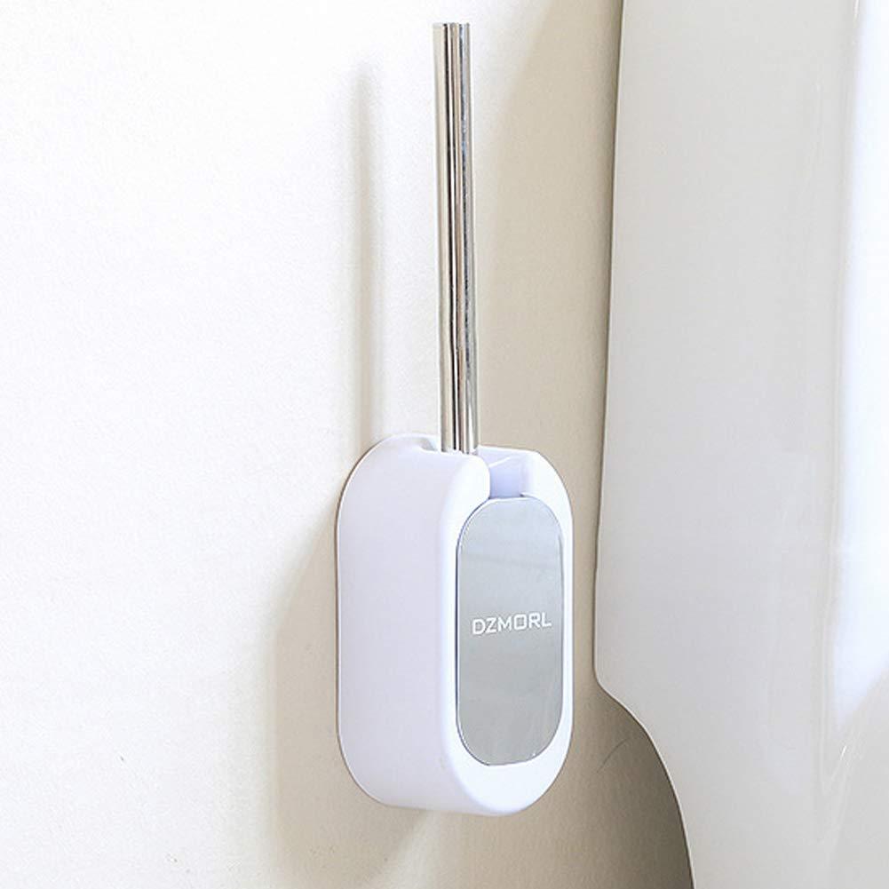 Harddo WC-B/ürste und Halter kompakter Wand-WC-B/ürstenhalter mit Edelstahlgriff