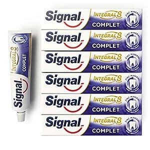 Signal Dentifrice Complet Integral 8 Antibactérien, Zinc Minéral d'Origine Naturelle, Action Anti-Plaque, Douceur…