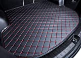 #9: Boboo 2017 2018 CX-5 CX5 KF Rear Cargo Liner Tray Leather Black Red Trunk Floor Mat Cover for 2017 2018 Mazda CX-5 Trunk