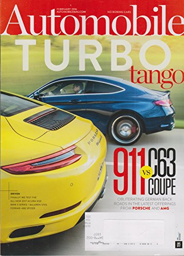 Automobile February 2016 Turbo Tango 911 vs C63 Coupe ()