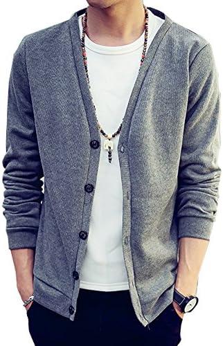 カーディガン メンズ フライス コットン cardigan メンズファッション 無地 長袖 カーデ カーデガン カラー 3L 綿 コットン 秋服 グリーン 赤 ブルー イエロー 薄手 大きいサイズ シンプル スクール セーター きれいめ着こなし メンズ