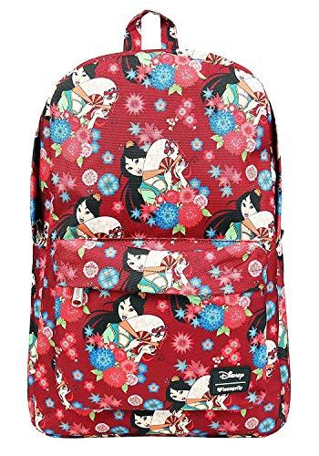 Disney Canvas Backpack - Loungefly Disneys Mulan Floral Print Backpack Standard