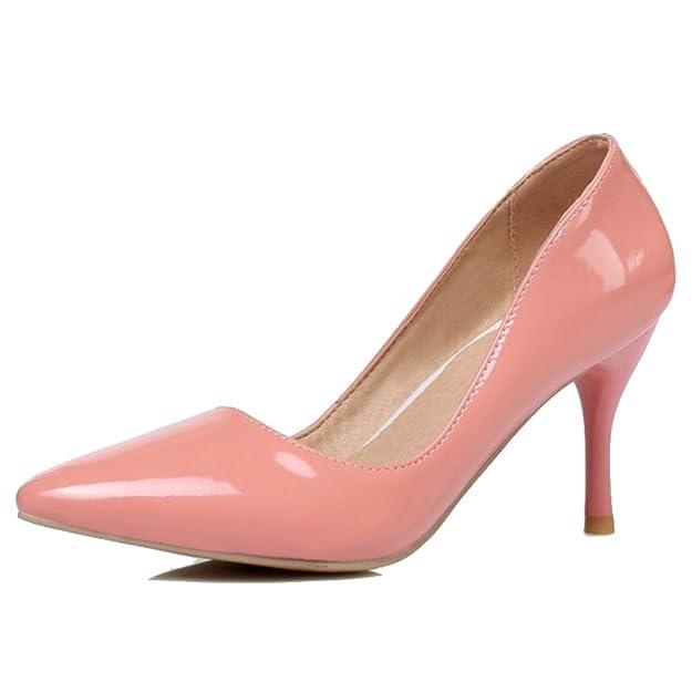 SJJH Damen Dress Pumps mit Stiletto Absatz Spitze Toe Schuhe für Hochzeit UqQIwBoguP