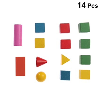 Buy Toyvian Mini Geometric Solids Multicolored 3D Shapes