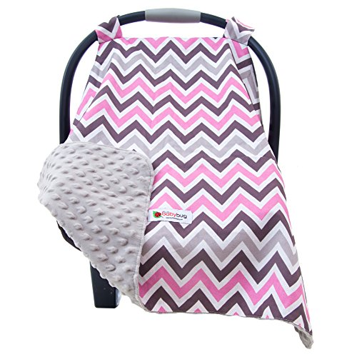minky car seat cover for girls - 8