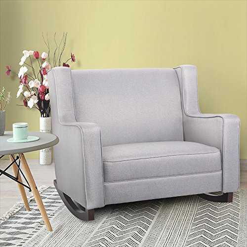 Homedex Fabric Morden Comfortable Relax Rocking Chair (Grey)