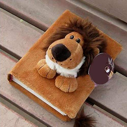 Gyswshh 80 Pages Fluff Soft Cartoon Animal Doll Family Baby Photo Storage Holder Album Lion