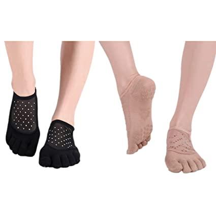 Yoga Socks Women Grips, Antideslizante Five Toe Socks ...