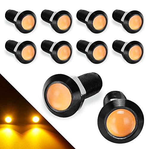 YITAMOTOR Eagle Eye LED 18MM Ultra Thin Amber Eagle Eye Led Bulbs Daytime Running Lights - DC - Eagle Led Eye Light