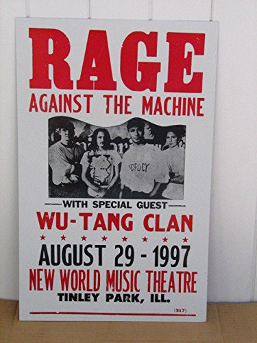 Rage Against The Machine Wu Tang - Vintage Rage Against The Machine Concert Poster 1997 WU-TANG Clan