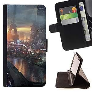 Momo Phone Case / Flip Funda de Cuero Case Cover - Futuro París Francia;;;;;;;; - Sony Xperia Z2 D6502