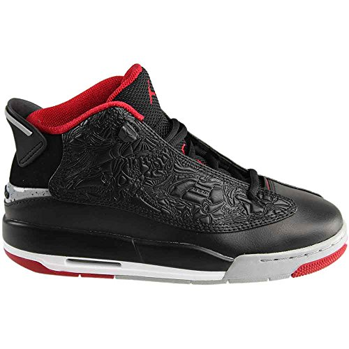 Image of Nike Youth Air Jordan Dub Zero Boys Basketball Shoes Black/Gym Red/Wolf Grey 311047-013 Size 5