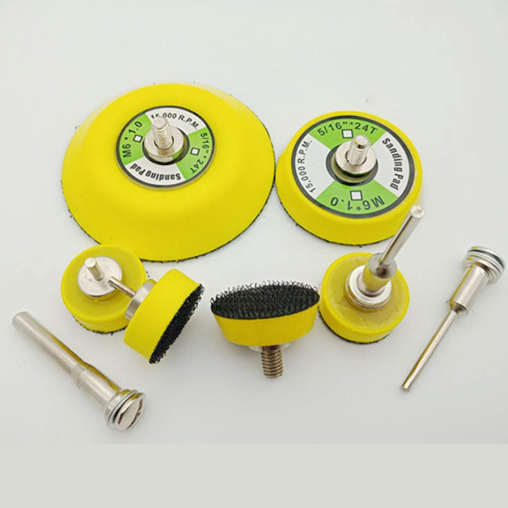 50mm DOITOOL 3PCS 2 Inch Hook and Loop Sanding Pad Rotary Backing Pad for Sanding Discs with 1//8 Inches Mandrel Drill Attachment