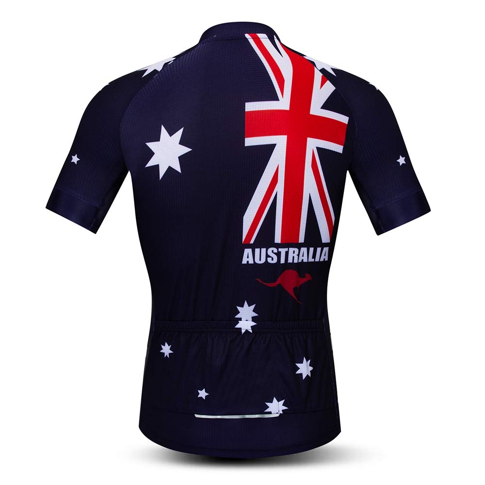 493ac58bb Amazon.com  weimo Men s USA Short Sleeve Cycling Jersey Breathable Biking  Shirt  Clothing