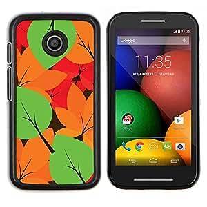EJOOY---Cubierta de la caja de protección para la piel dura ** Motorola Moto E ** --Hojas de otoño Colores Patrón