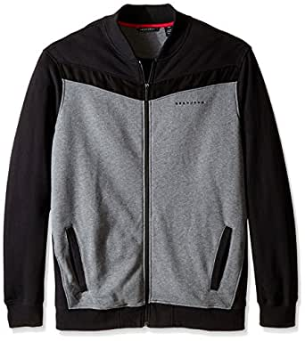 Sean John Men's Big-Tall Sport Bomber Jacket, Medium Grey Heather, XXX-Large