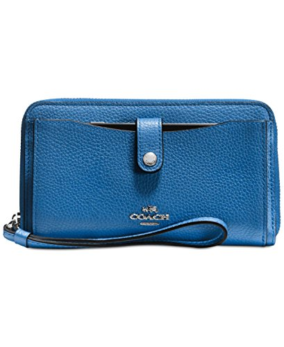 Womens Polished Pebbled Leather Wallet