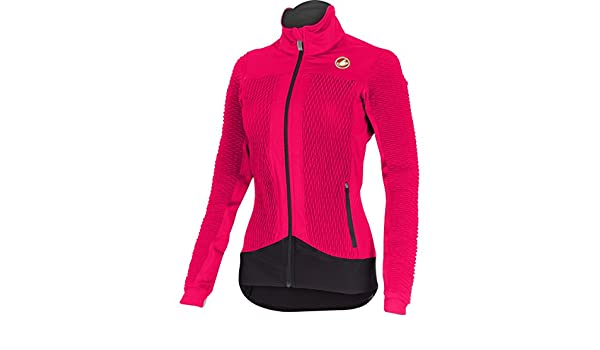 Castelli Womens ELEMENTO 27XAIR Pink Cycling Wind Jacket Size Small