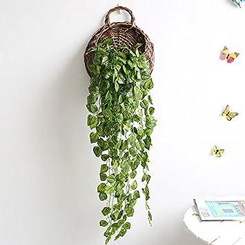 Amazon De Wanddekoration Simulation Pflanzen Wand Anhanger Ideen