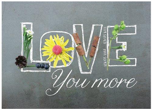 Jada Venia 7.5'' X 5.75'' Love You More Photo Light Box Insert