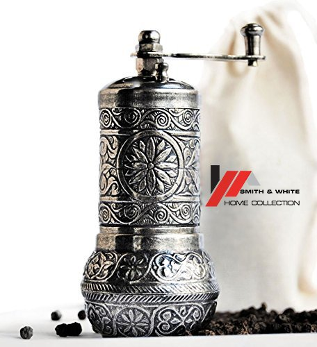 Handmade Pepper Coffee Mill Spice Salt Grinder for Pepper,Cardamom, Mustard,Cumin, Sumac,Rice,small American, German, African, Mexican, Hispanic, Indian, Italian and Irish spices ()
