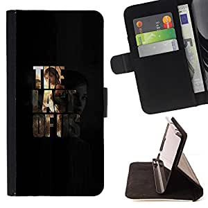 For Samsung ALPHA G850 Last Us Leather Foilo Wallet Cover Case with Magnetic Closure