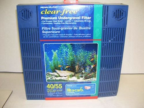 Penn Plax Undergravel Filter – Premium Aquarium 4 Filter Plate System Designed to Fit 40/50 Gallon Tanks