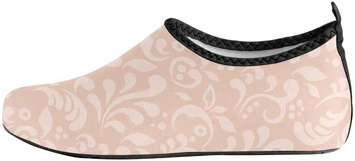 INTERESTPRINT Mens Water Shoes Valentine Heart Rose Quick Dry Barefoot Aqua Shoes