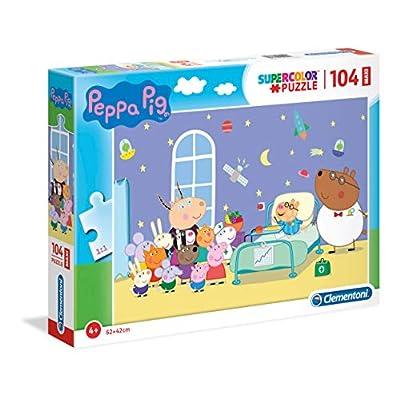 Clementoni Supercolor Puzzle Peppa Pig 104 Pezzi Maxi Multicolore 23735