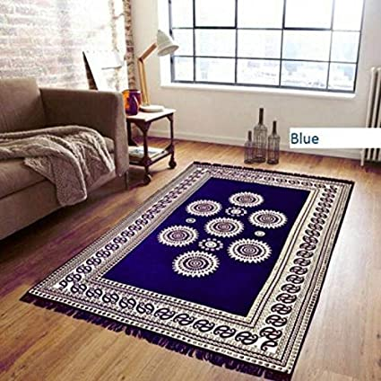 STOP N SHOPP Zeometric Ethnic Velvet Touch Abstract Chenille Carpet (5Feet X 7Feet) Multi