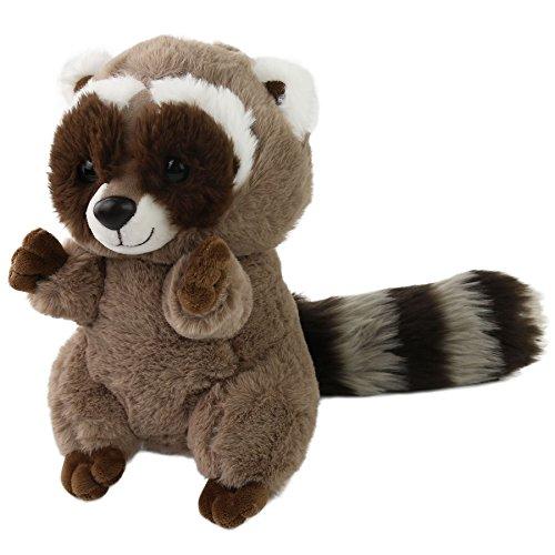 - Houwsbaby Realistic Stuffed Raccoon Plush Toy Gift for Kids, 10inch (Raccoon)