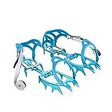 BRS 14 Dientes Claws Crampones Grapas Crampones de al Aire Libre Esquí Nieve Senderismo Escalada (Azul)