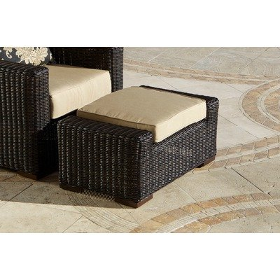 RST Brands OP-PECCLOTTO-LNK-E Resort Collection Club Ottoman Rattan Patio Furniture, Espresso by RST Outdoor