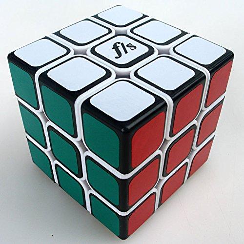 Funs® Mini Shuangren 3x3 54.6mm Speed Magic Cube Funs F/s Puzzle Black Face on White