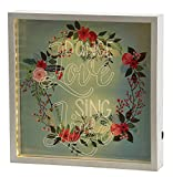 Faithworks Heartfelt LED Lit Light Box Wall Décor, Dance, Love, 12 x 12'', Dance, Love, Sing, Live