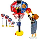 ZZX_BOBO ミニ バスケットゴール 高さ調節可能 室内 屋外 バスケットボール付き 子供用 バスケ 練習
