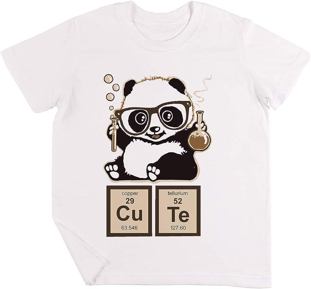 Química Panda Descubierto Linda Niños Chicos Chicas Unisexo Camiseta Blanco: Amazon.es: Ropa y accesorios