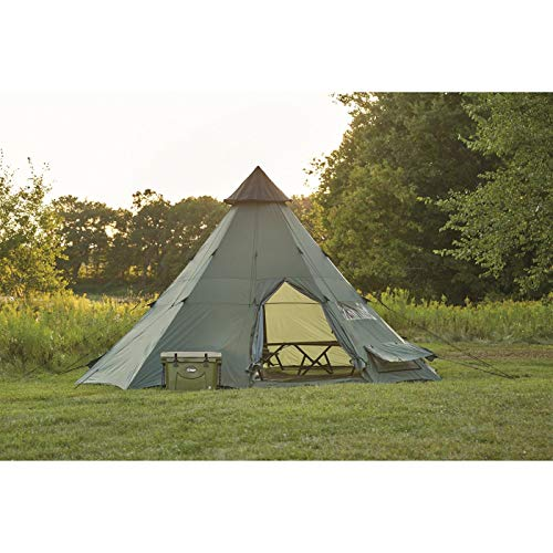 Guide Gear Teepee Tent, 18' x - Canvas Tent Wall