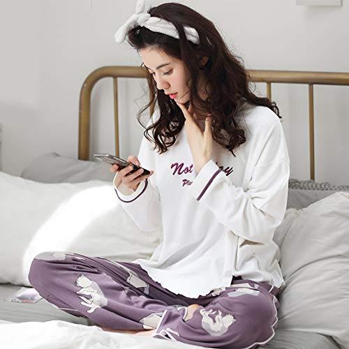 Size Blanco Mujer Suelta El Blanco Algodón Sg Dormir Deporte Ropa De Blancos Larga Hogar color Manga Para Pijamas 1TfYZf